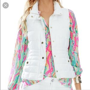 Lilly Pulitzer Jackets & Coats - Never worn Lilly Pulitzer vest L